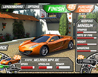 Racing Game - Touch Interface