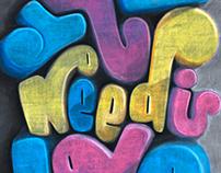 John Lennon Chalkboard