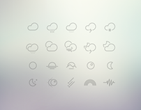 61 Outlined Weather Icons Collection | Free