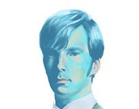 Cumberbatch's portrait.