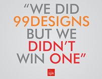 We did 99designs, but we didn't win one. (part 1)