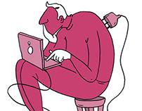 Illustration for the magazine online Aspirina