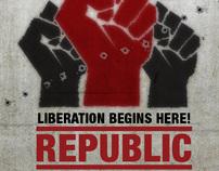 Republic club night - promotional work