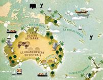 Oceanie map