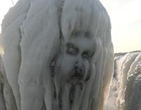 Peinture sur glace.