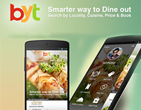 Book your table: Android Mobile UI