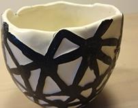 bol porcelaine blanc et noir