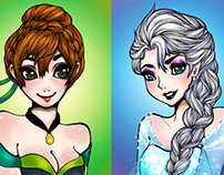 Disney Princess Anna & Elsa