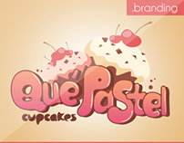 Branding | Qué Pastel - Cupcakes |