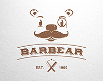 Barbear - Logo for Sale! www.One-Giraphe.com