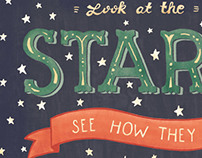 Look at the Stars, Coldplay Hand Lettered