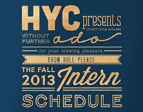HYC Intern Schedule