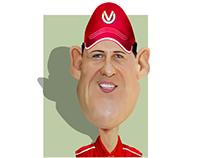 مايكل شوماخر Michael Schumacher cartoon كاريكاتير