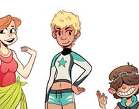 5 character tropes!  BEACHBUMZ