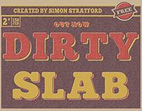 Dirty Slab free typeface