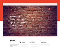 Freebie – my.kingdom one page PSD template