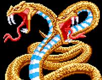 Golden two-headed snake