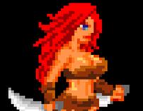 Female Barbarian walk animation