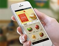 Mos burger web concept