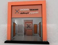 AXIOM TELECOM SHOP 3D RENDERS