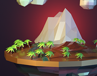 3D Island Low Poly