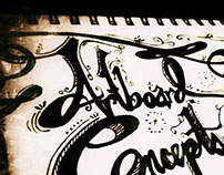 Hand-lettering concept