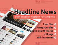 PSD Template - Headline News Magazine