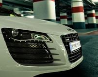 Audi R8 car park