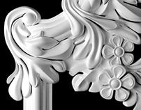 Plaster molds modelling