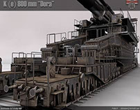 "German Railgun K(E)  800 mm ""Dora"""