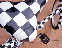 Chequered-bike