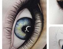 Eyes. Watercolor
