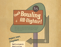 1950s-Themed Bowling Event Poster