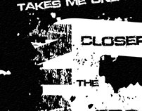 Typography Lyrics Poster Black and White