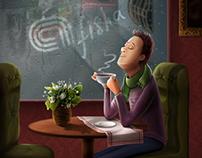 Иллюстрации для Приложения Afisha.uz