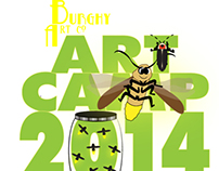Art Camp 2014 logo and promo
