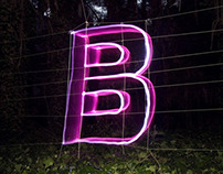 Alphabet Light writing