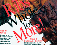 Ribs and a Whole Lot More Menu promo