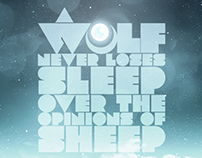 A wolf never loses sleep over the opinions of sheep