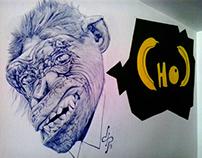 """CHOC Monkey"" Mural"