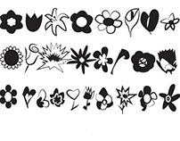GWDA103 Flower Dingbats