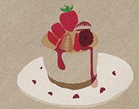 Valentine's illustrations for milk x monthly MAGAZINE