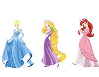 Stylized Disney Princess art
