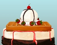 Dessert Sandwich   Illustration