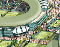 Wimbledon 2015 Ticket Design