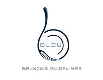 Bleu Restaurant Branding and Interior Design Concept