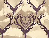 Folk Deer Pattern
