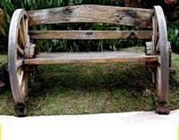 A Wood Wheel Chair