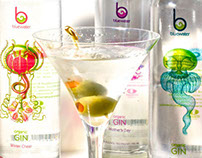 BlueWater Gin Labels