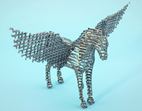 Steel flying horse